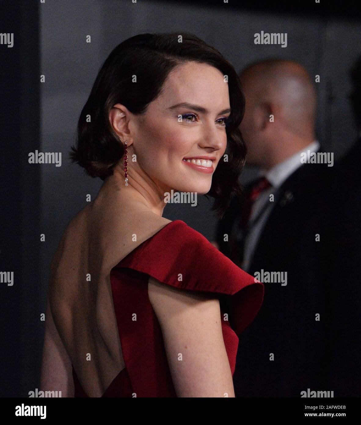 Los Angeles United States 17th Dec 2019 Cast Member Daisy Ridley Attends The Premiere The Motion Picture Sci Fi Fantasy Star Wars The Rise Of Skywalker At The Tcl Chinese Theatre In The
