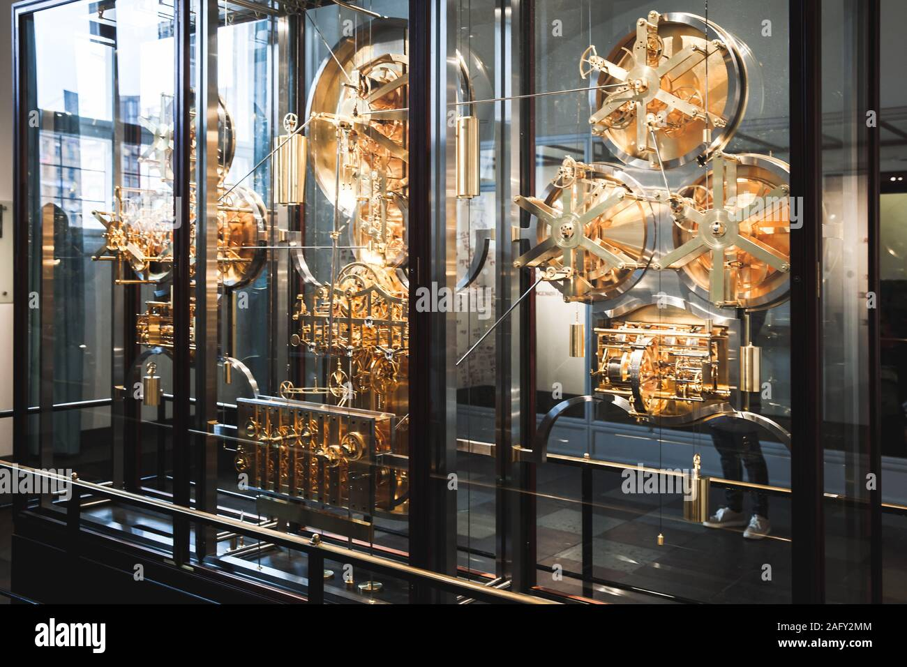 Copenhagen, Denmark - December 9, 2017: Jens Olsen World Clock, it is an advanced astronomical clock which is displayed in Copenhagen City Hall Stock Photo