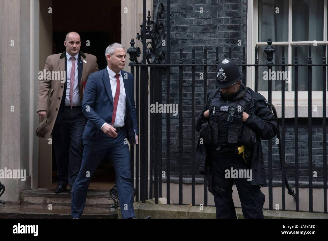 London, UK. 16th Dec, 2019.  Jake Berry, Minister for the Northern Power House  and Steve Barclay, Brexit Secretary leaving Downing Street following a cabinet meeting.  Claire Doherty/Alamy Live News Stock Photo