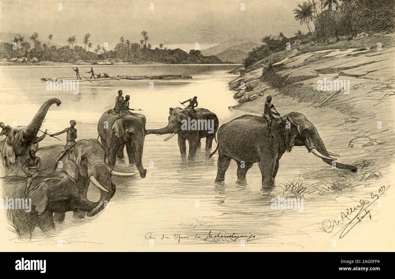 PRINCE OF WALES MOUNTING HIS ELEPHANT AT OLD PALACE OF LUSHKUR GWALIOR ELEPHANT