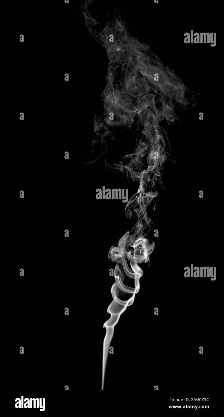Abstract Light Smoke On A Dark Background Stock Photo Alamy