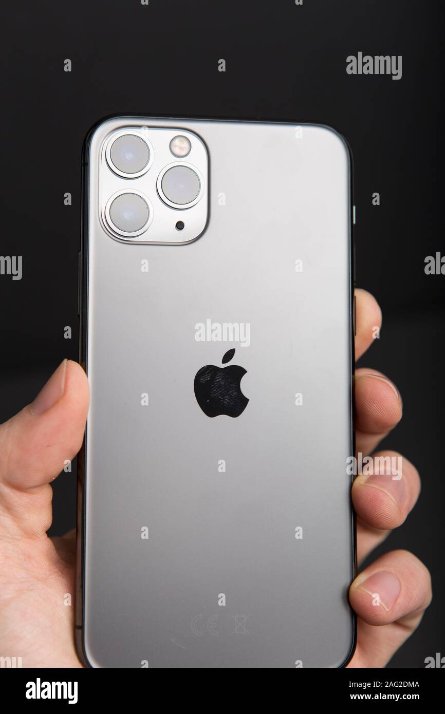 Milan Italy December 17 2019 Close Up On A Brand New Apple Iphone 11 Pro On A Black Background Stock Photo Alamy