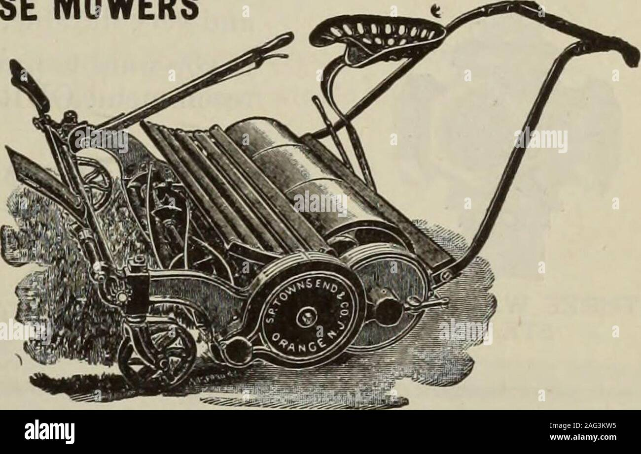 . Hardware merchandising August-October 1912. TOWNSEND MOWERS HAND MOWERS and HORSE MOWERS All Our Hand MowersAre Ball Bearing SENT ON THEIR MERITS Write for Catalog S. P. Townsend ®L Co. ORANGE. N. J.. Good Profits The StraightestAim at YOUR success is the handling of quality goods. When it comes to quality, the HAMILTON RIFLE cannot be beaten for the price. It is a marvellous 22 calibre rifle with few working parts. These can be easily kept clean. Its safety, strength and accuracy give it an unlimited popularity with every user. The finish and design make it very attractive. The good profits Stock Photo