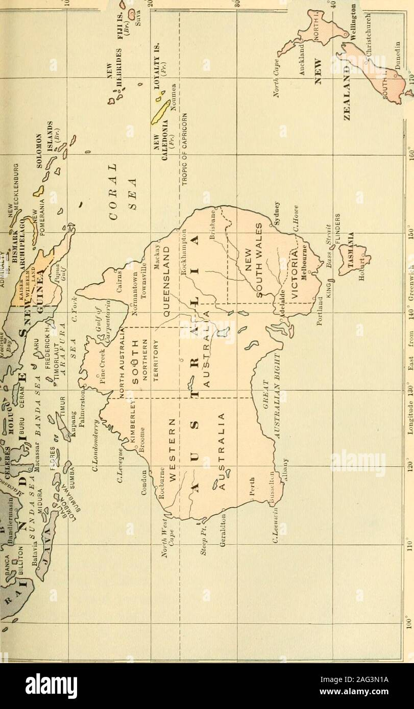 . Modern and contemporary European history (1815-1921). THE BRITISH EMPIRE 413 South Africa South Africa was originally settled by Dutch colonists inthe seventeenth century. French Huguenots, fleeing frompersecution, also came there. It remained a Friction be-Dutch colony till 1814, when it was given to the f^ncf*English by the Congress of Vienna. Almost Boersimmediately immigration from Great Britain set in. Fric-tion arose between the Government and the Boers, as theDutch were called, over the introduction of the Englishlanguage, laws, and customs. In 1834 tne Boers were greatlyangered becau Stock Photo
