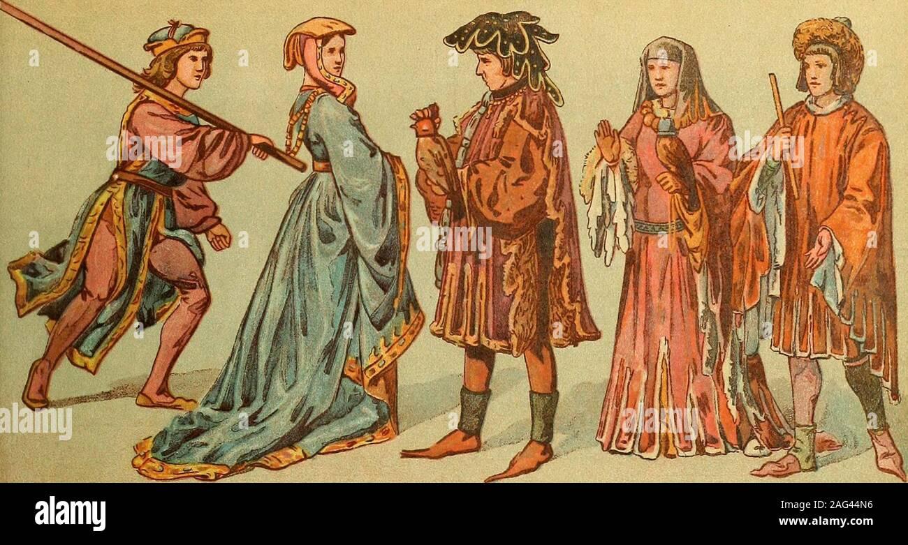 geschichte des kostüms. fig. 10. blaue, ziemlich lange