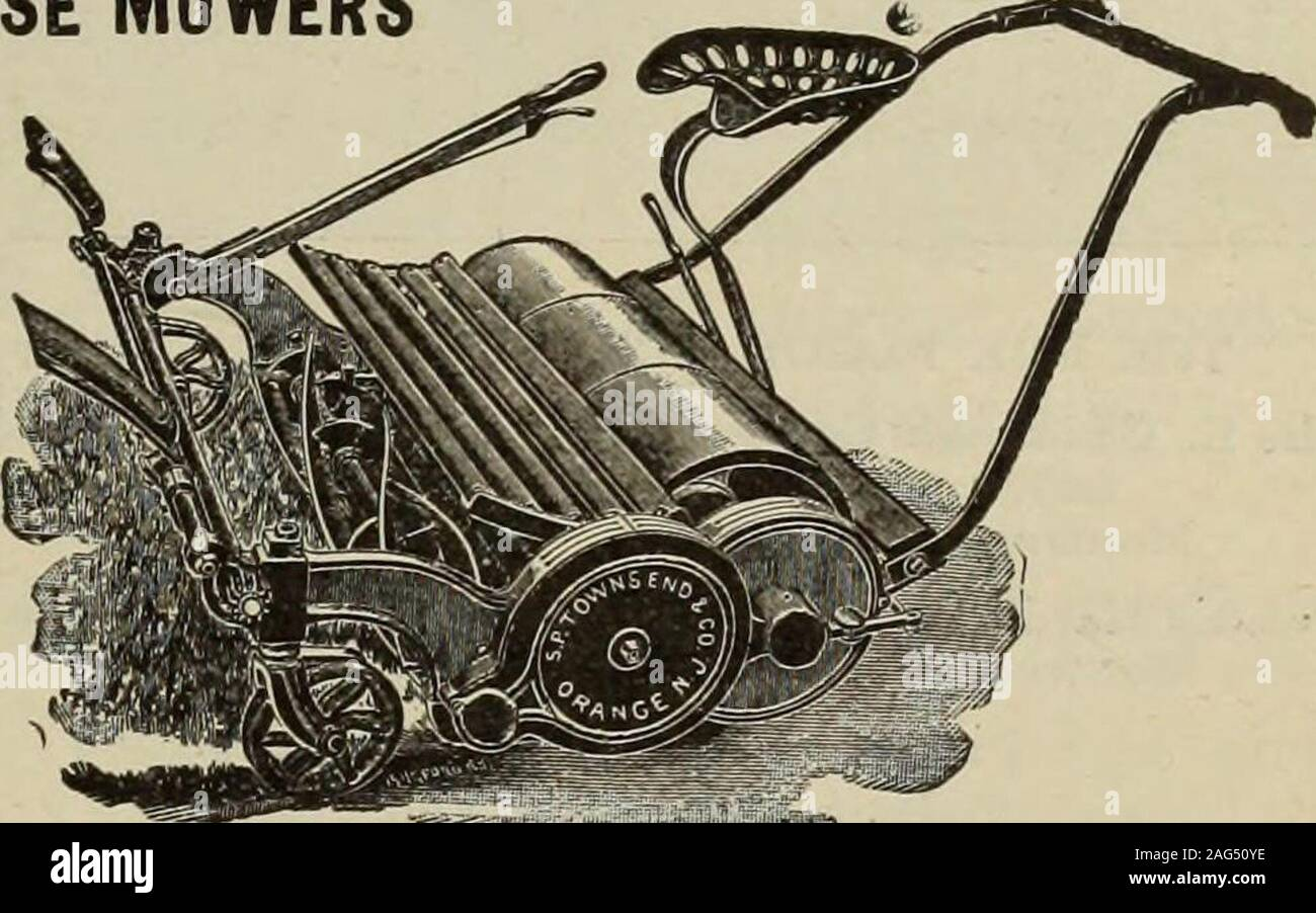. Hardware merchandising August-October 1912. TOWNSEND MOWERS HAND MOWERS and HORSE MOWERS All Our Hand MowersAre Ball Bearing SENT ON THEIR MERITS Write for Catalog S. P. Townsend CEL Co. ORANGE. N. J.. The HamiltonRIFLES 22CALIBER have reached the height of mechanical perfec-tion, being well balanced, accurate and abso-lutely safe. They have few working parts, which are very simple and can be easily keptclean. Both old and young will buy this attractive rifle on sight and you will benefitby their enthusiasm over its excellent service. Put it in stock—give it a fair trial, and if unsatisfacto Stock Photo