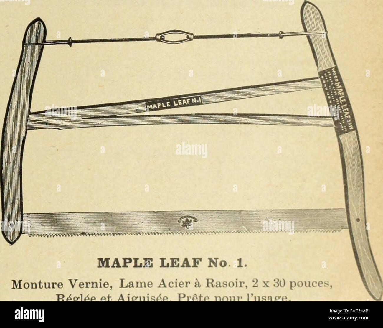 . Le quincaillier (Juillet-Decembre 1905). MAPLE LEAF No. 1. Monture Vernie, Lame Acier k Rasoir, 2 x 30 pouces,R^gl^e et Aiguisde, Prgte pour Iusage. Materiel choisi, Tigede Tension Clipper, Lame Polie, R6gl^eet Aiguis^e, Prfite pour Iusage. DEMANDEZ NOS PRIX LEWIS BROS. Ltd. MONXREAL.. OTTAWA TORONTO a/iiminjif»e:o VANCOUVERCALGARY 44 LE PRIX COURANT METAUXAntimoine lyautimoine est ferme et sans change-ment. On cote actuellement de 14 a 14 l-2c. la lb. Pontes Le marche des fontes est toujours tresferme. Nous cotons a la tonne: Carrom 21.50 22.50 01.aren.ce 19-00 19/50 G-arnbroe ^oc Summerle Stock Photo