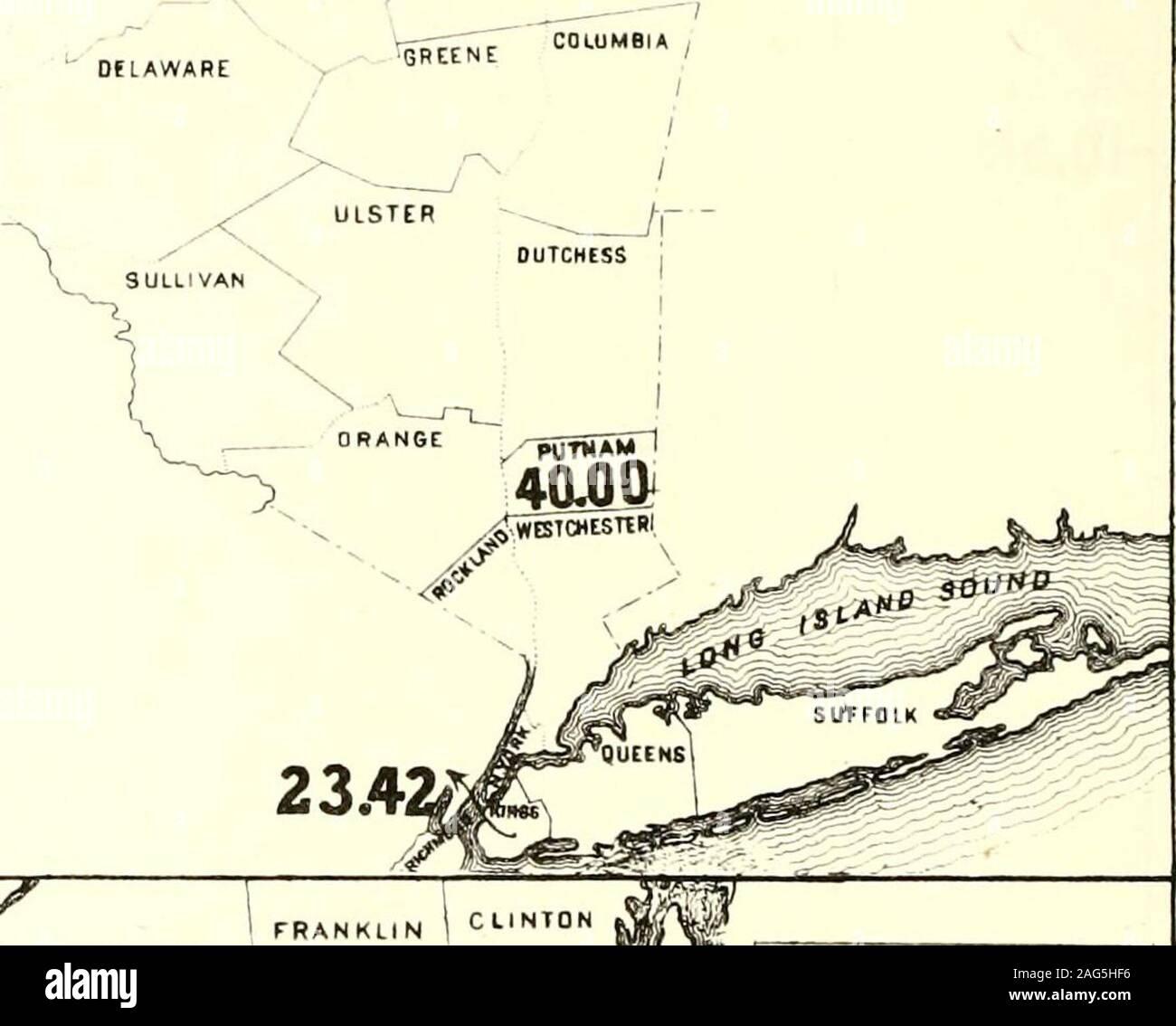 . Census of the state of New York for 1875. Counties. 1 Per Ct ! Hamilton, 1 750.00 1 Cortland, 2 77.59 i Essex, 3 60.00 1 Steuben, 4 45.00 Putnam, s 40.00 : Orleans, 6 38.95 Franklin, 7 33,33 Lewfs, 8 29.82 Warren, 9 28.12 1 Kings, 10 23 42 , Schoharie, 11 23.12 ! Livingston, 12 20.47 Monroe, 13 19.01 Onondaga, 14 16.81 : Broome, * li.18 CATTARAUGJS ALLE8AHY iXHAUTAUQUAl STEUBEN --^^ 45.00 fATES TOMPKIHS 17^53 CHENANSO SCHOMAniE-. -r ALBANY 23.12 CHEMUNG 15.18 DflAWARE MAP No.I. £ X P LA N AT ION . Till Ilifiiris III 1(1,/i ((III II ty sli (>l llir rt/lixilniolrs II tJtriii/.vf in.-i/nii/ Stock Photo