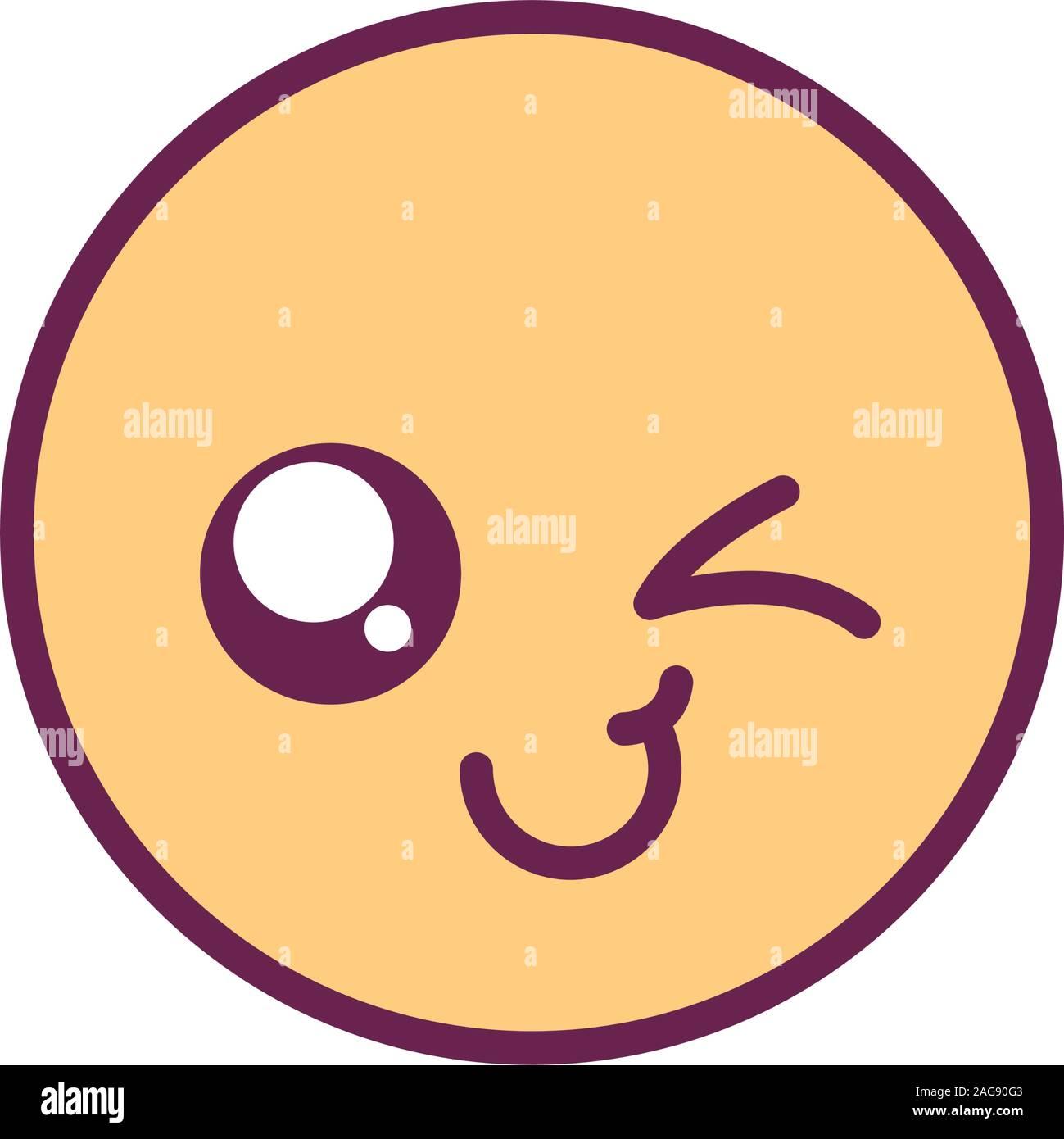 Kawaii Happy Wink Facial Expression Stock Photos Kawaii
