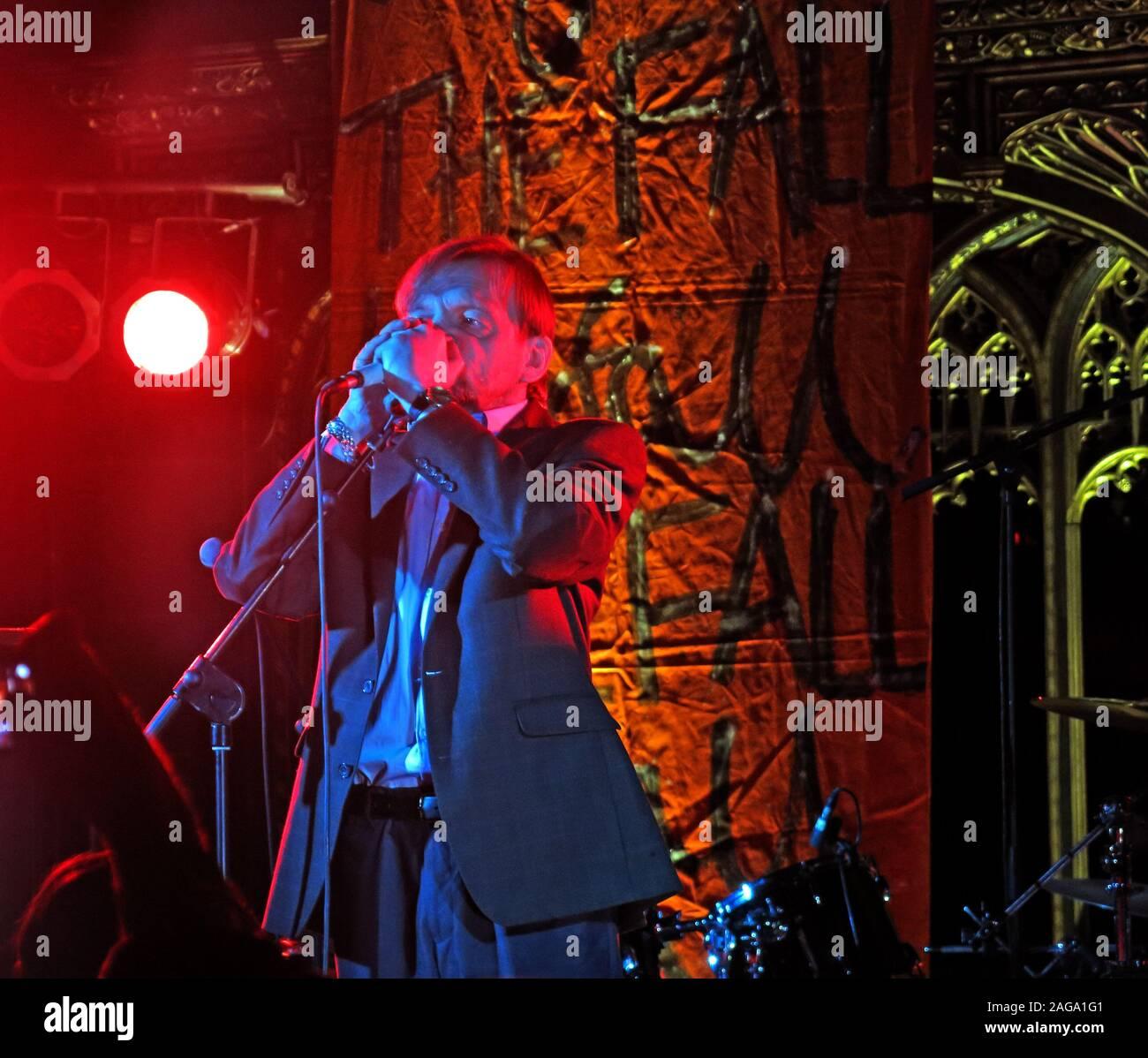 Mark E Smith & The Fall perform 15/05/2014 Manchester Cathedral gig - Mark.E.Smith Stock Photo