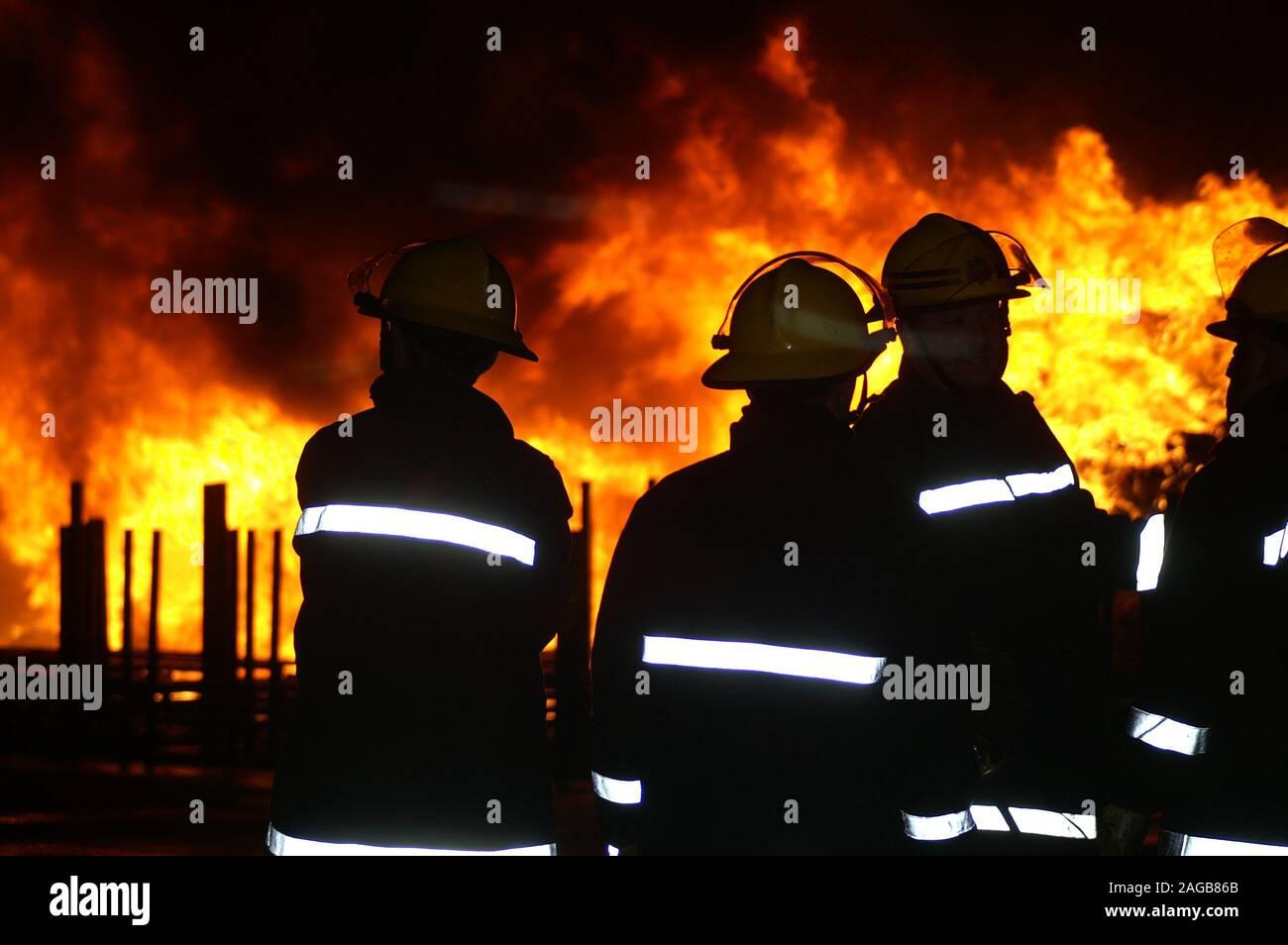 fire fighting, Australian bushfire, wild fire 2020 Stock Photo