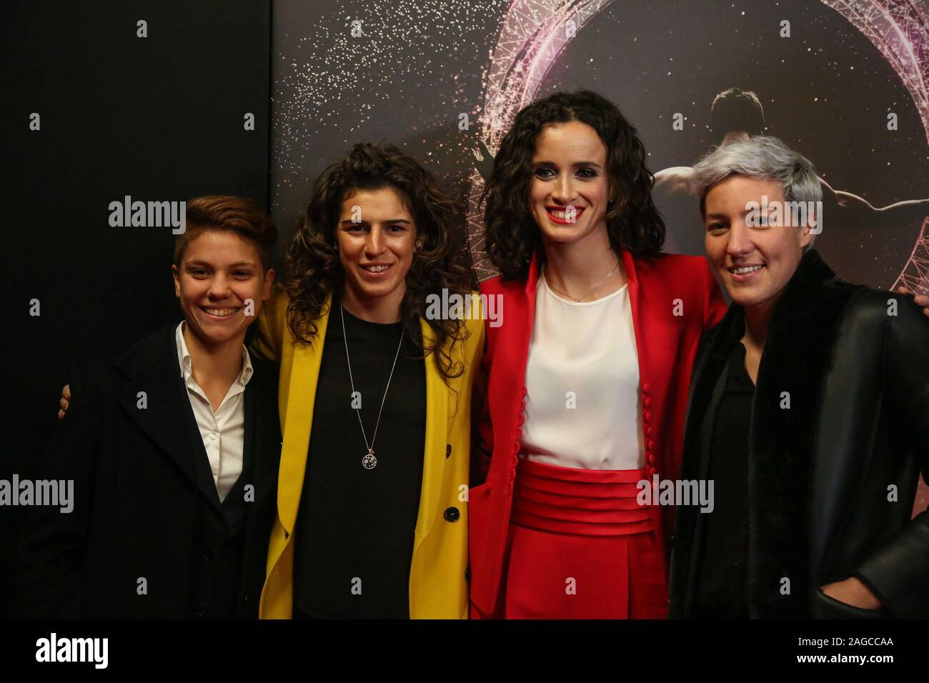 bonansea, bergamaschi, giuliano,terenzio during Gazzetta Sports Awards , Events in Milano, Italy, December 18 2019 Stock Photo