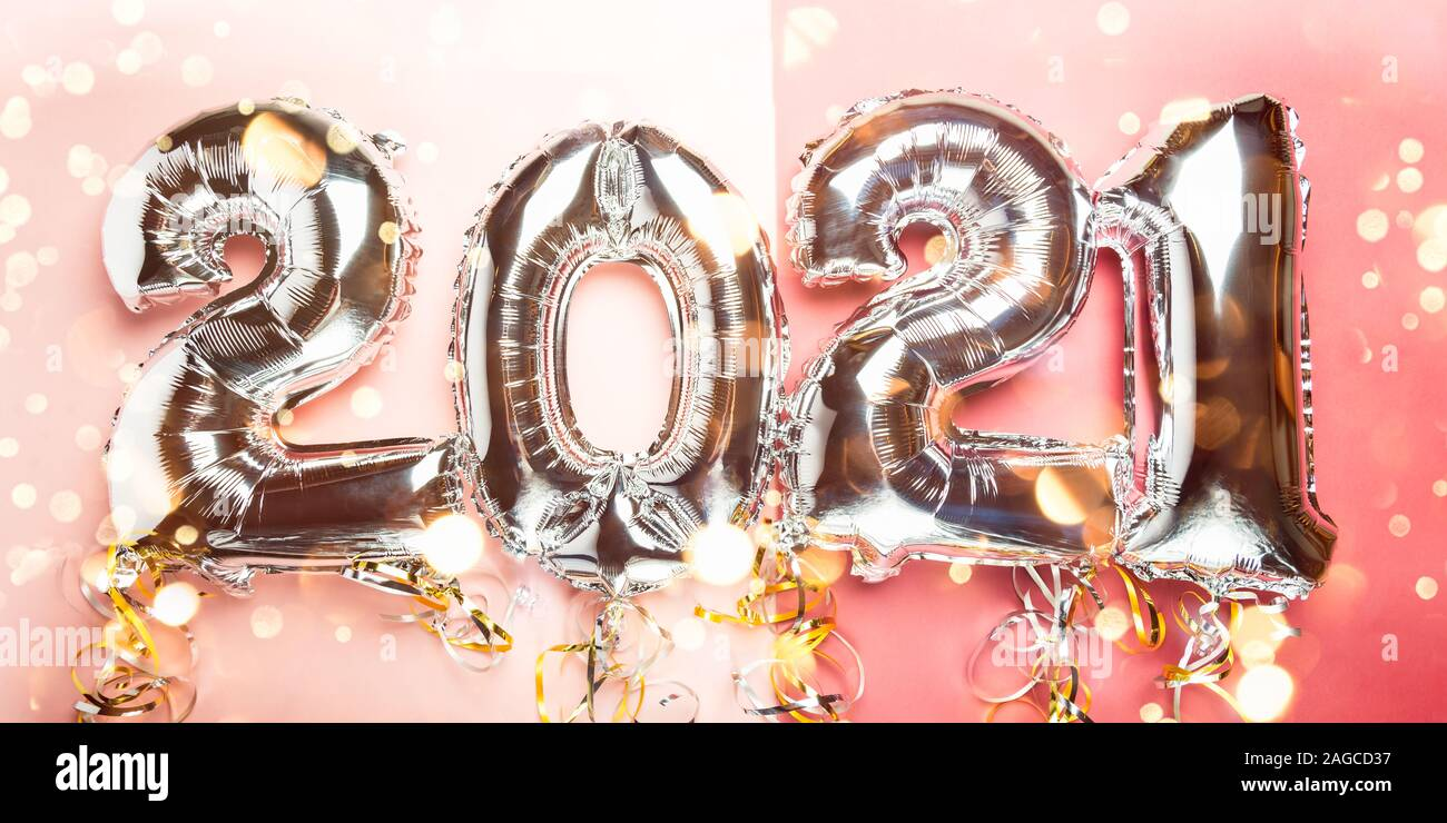 Balloon Bunting for celebration of New Year 2021 made from ...