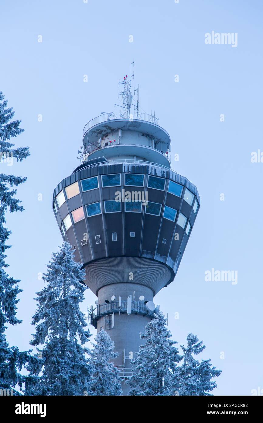 Puijo tower in Kuopio Finland in the winter Stock Photo