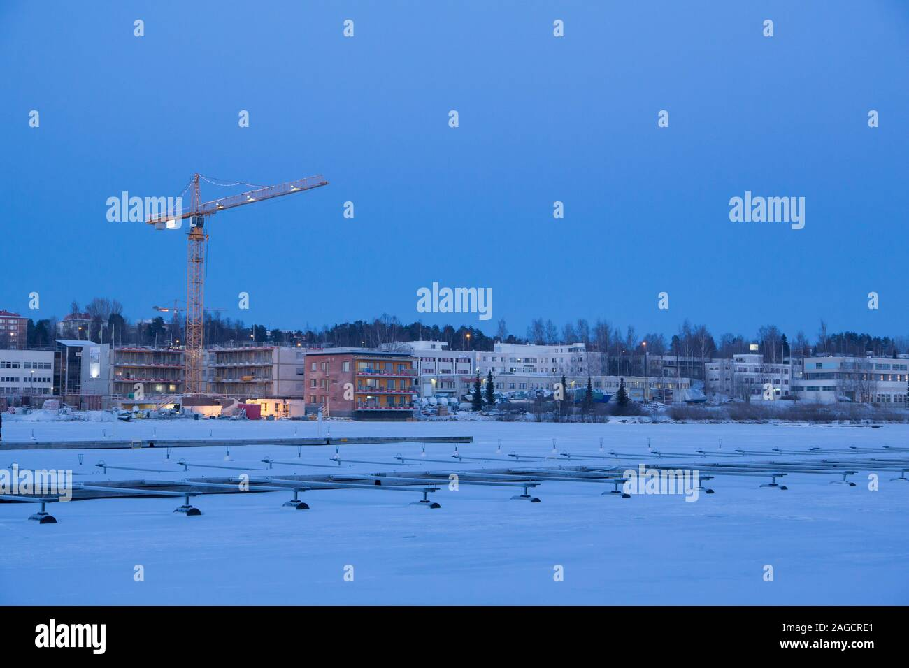 Kuopio in the winter Stock Photo
