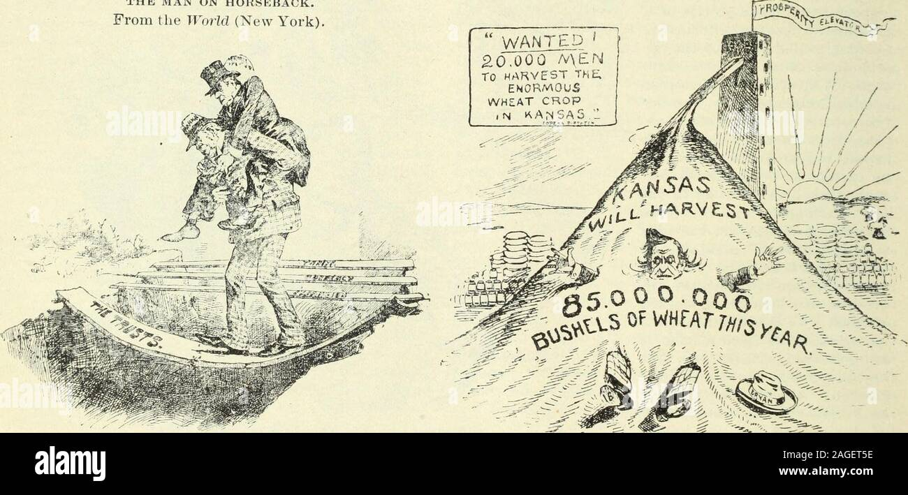 . Review of reviews and world's work. THE MAN ON HORSEBACK. From the WorM (New York) ? NAY, NAY! —From the World (New York).. THE GREATEST DANGER. From the Herald (New York). SAD FATE OF THE CALAMITY HOWLER. From the Tribune (New York). POLITICAL CARTOONS OF THE MONTH. 29 Stock Photo