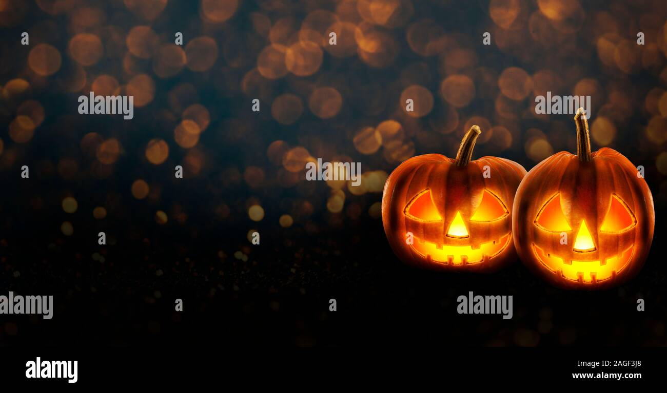 Halloween Background Wallpaper With Jack O Lantern Scary Pumpkins