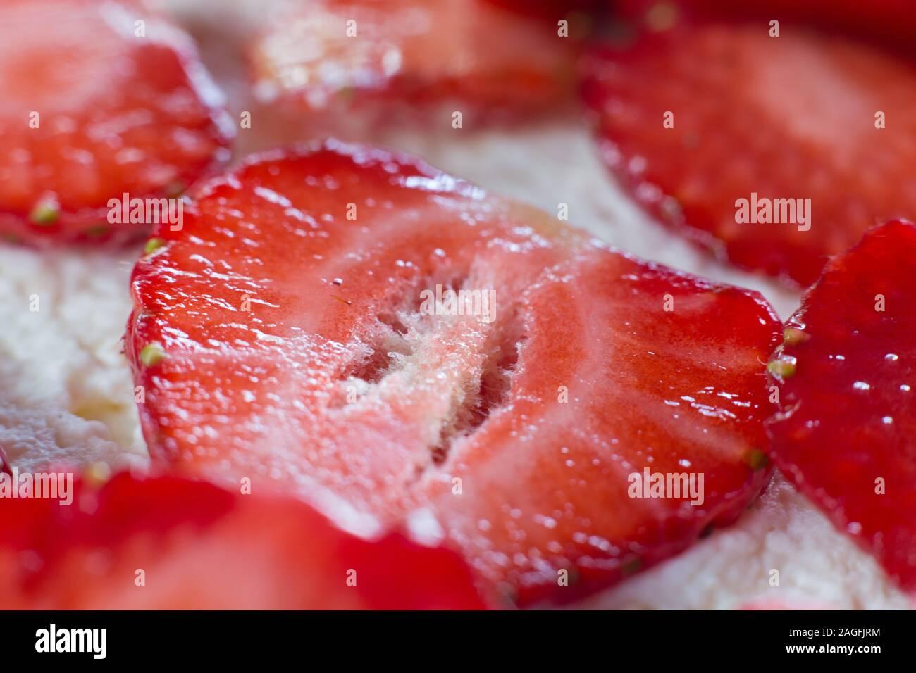 Strawberries. Strawberry close-ups. Stock Photo