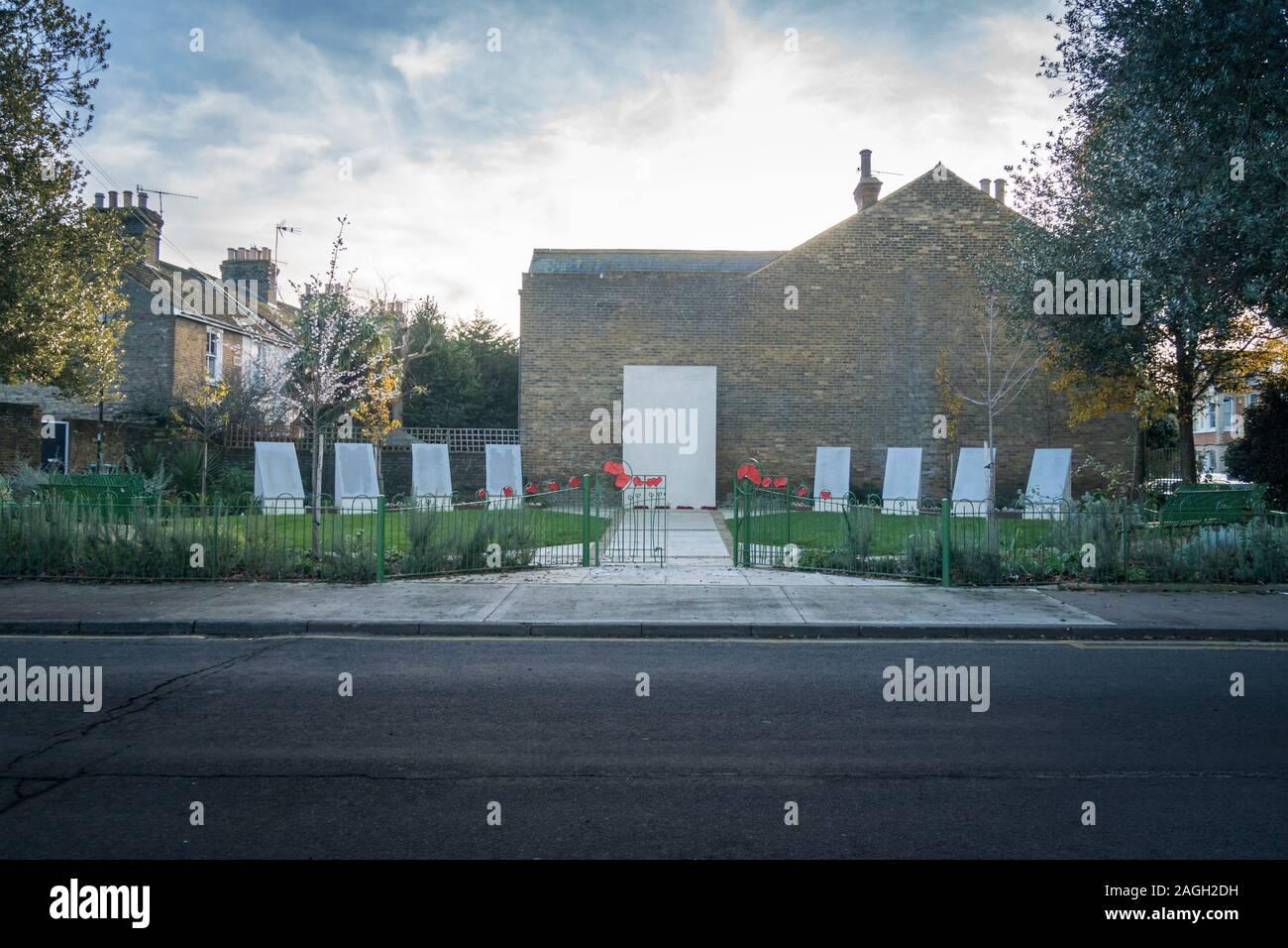 The war memorial in the medieval market town of  Faversham, Kent, UK Stock Photo