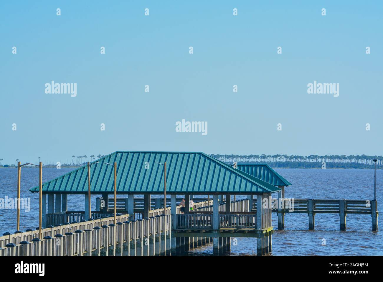 Fishing Pier On The Mississippi Gulf Coast Biloxi Gulf Of Mexico Harrison County Mississippi Usa Stock Photo Alamy