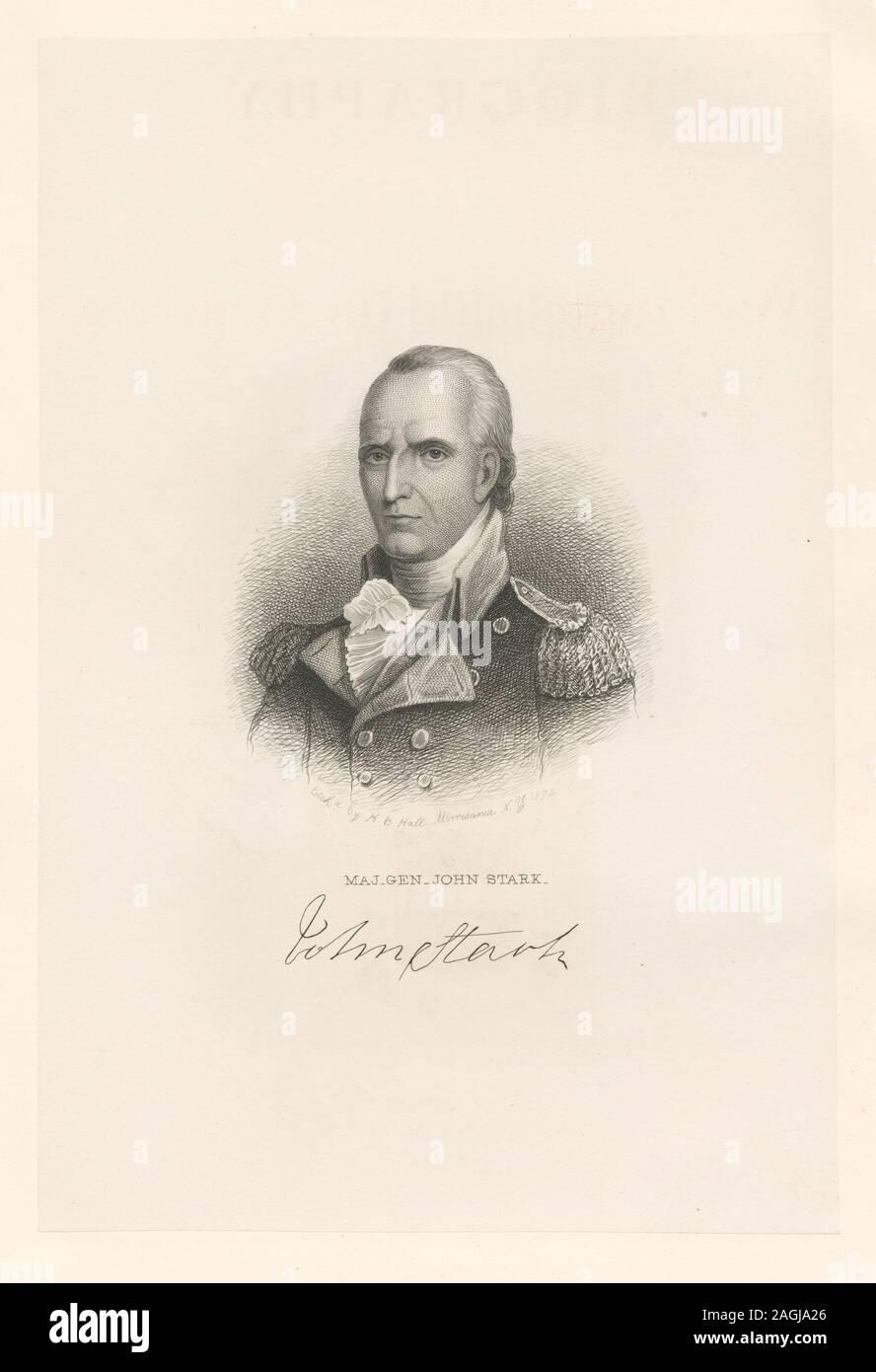Printmakers include Henry Bryan Hall and Luigi Schiavonetti. EM8505 Statement of responsibility: H.B. Hall; Maj. Gen. John Stark Stock Photo