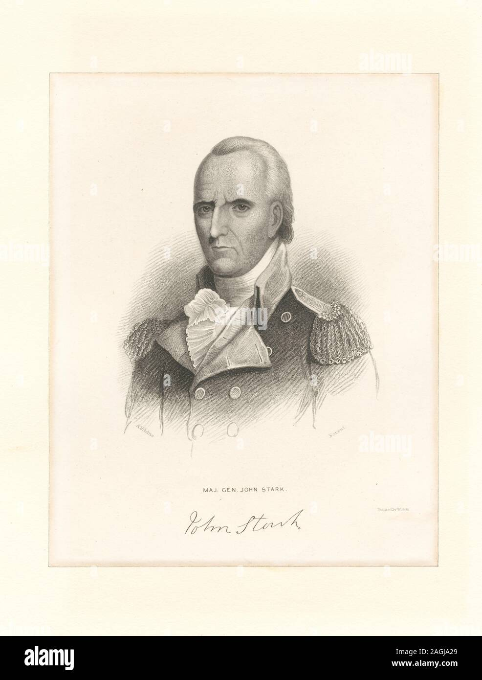 Printmakers include Henry Bryan Hall and Luigi Schiavonetti. EM8523 Statement of responsibility : Forest; Maj. Gen. John Stark Stock Photo