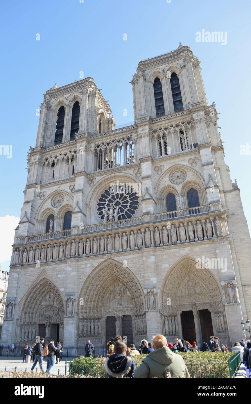 Notre Dame Cathedral Before Fire Stock Photo 337272292 Alamy