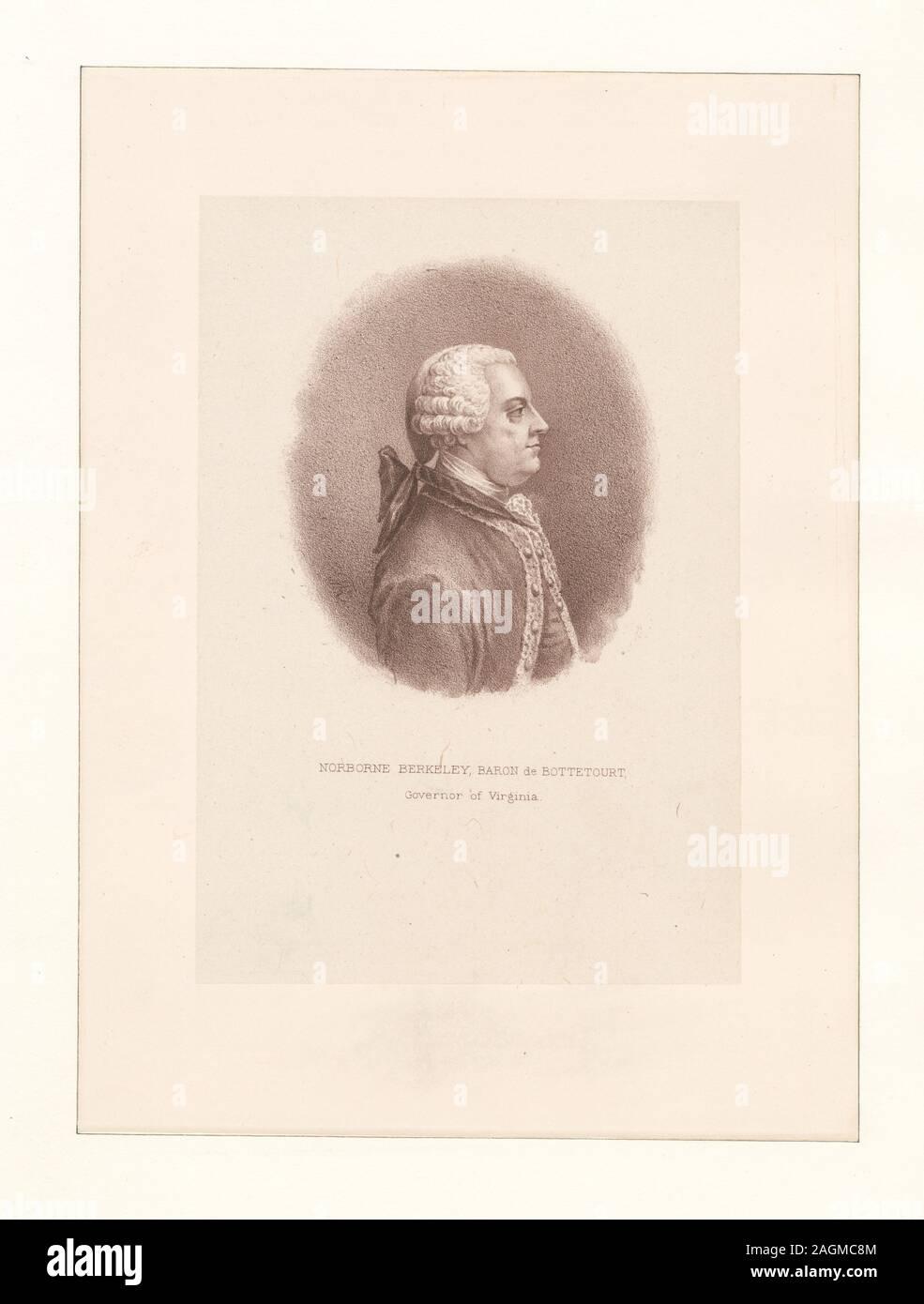 EM3755; Norborne Berkeley, Baron de Bottetourt, Governor of Virginia. Stock Photo