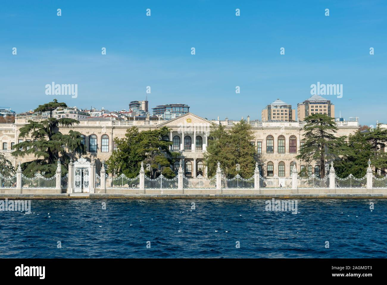 DECEMBER 17,2019 ISTANBUL TURKEY,Dolmabahce Palace built in 19 th century is one of the most glamorous palaces in the world. Stock Photo