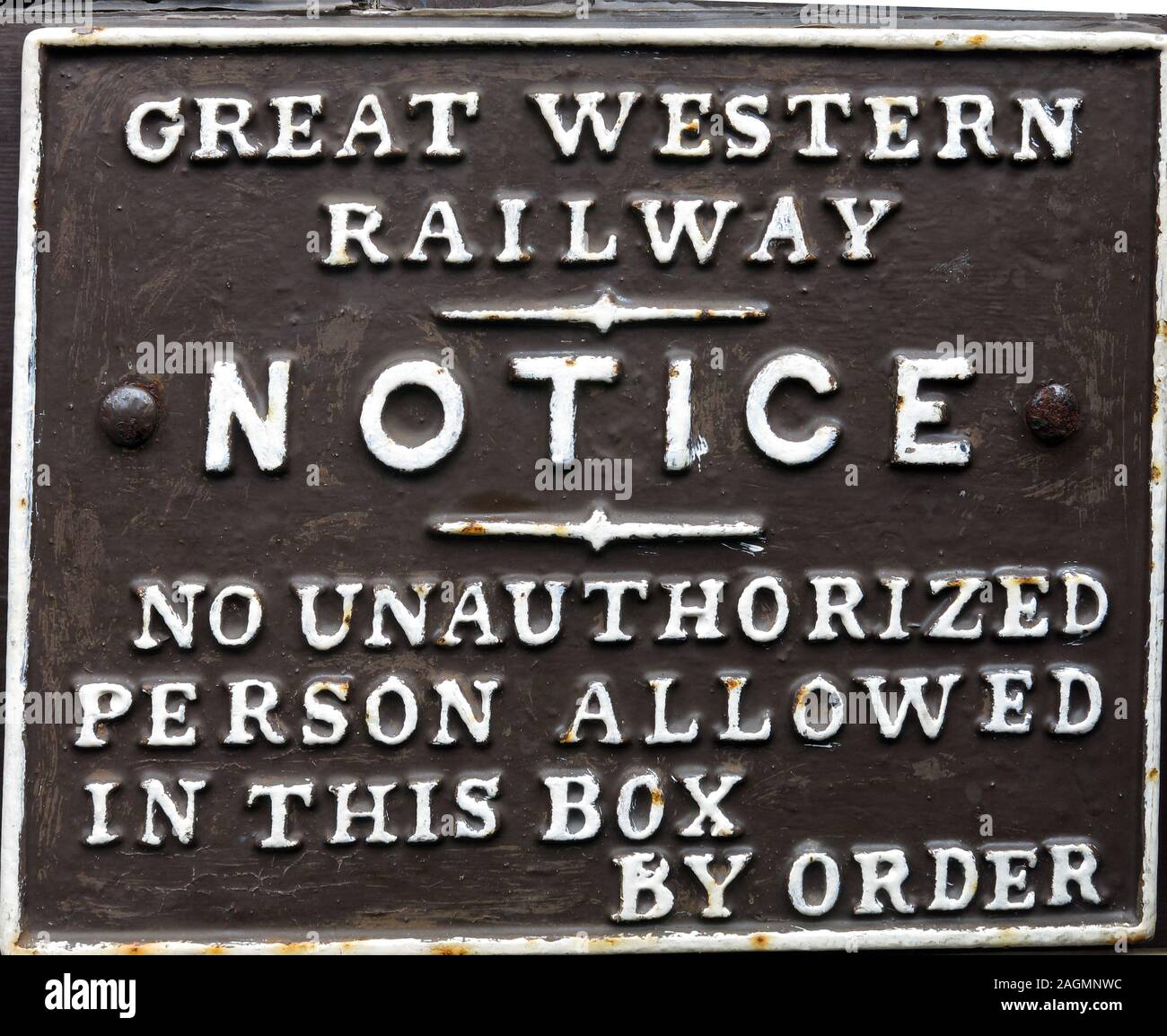 METAL SIGN GREAT WESTERN RAILWAY CLEANING /& MAINTENANCE