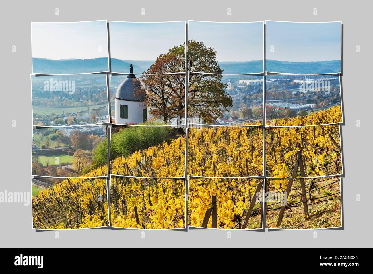 The Jacobstein is a vineyard gazebo in Radebeul near Dresden, administrative district Meissen, Saxony, Germany, Europe Stock Photo