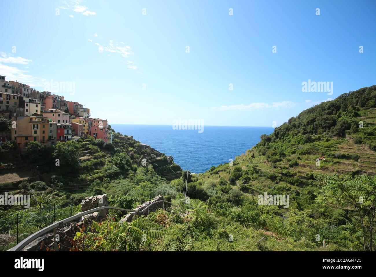 Village of Corniglia in Cinque Terre, Italy Stock Photo