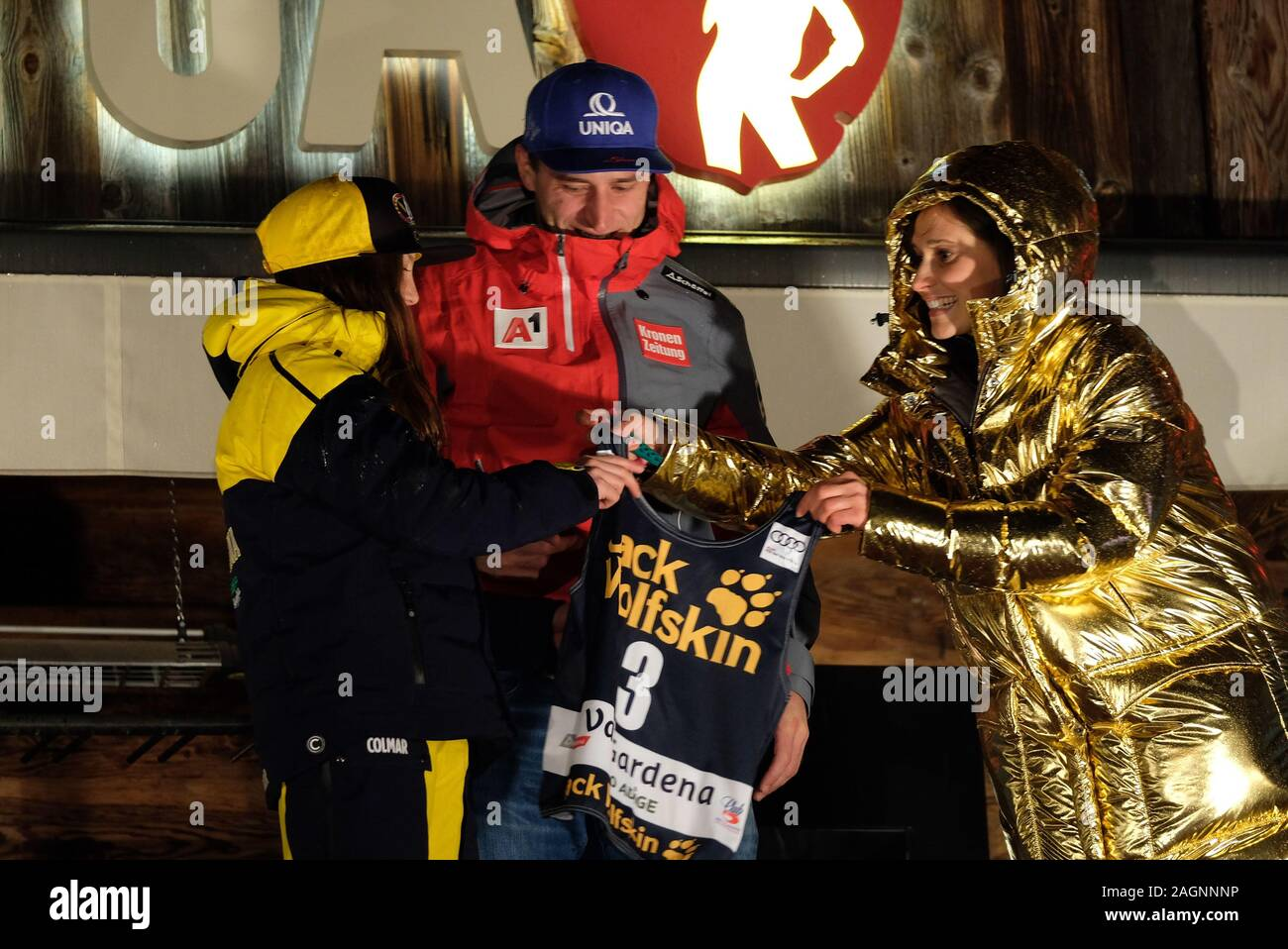 December 20, 2019, Val Gardena, Italy: mathias mayerduring FIS SKI WORLD CUP 2019 - Super G Men - Number assignment, Ski in Val Gardena, Italy, December 20 2019 - LPS/Roberto Tommasini (Credit Image: © Roberto Tommasini/LPS via ZUMA Wire) Stock Photo