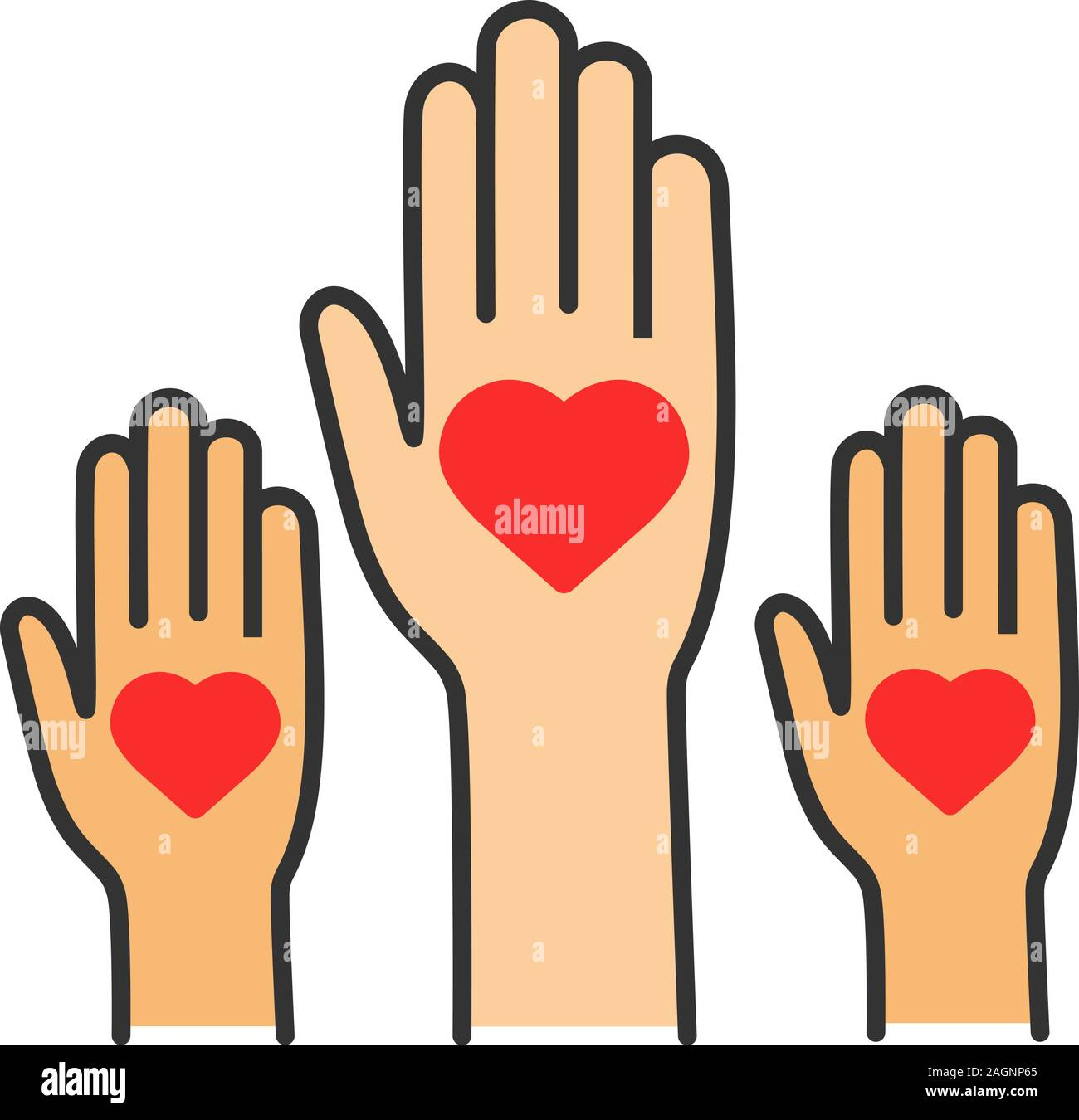 Unity In Diversity Color Icon No To Racism Volunteers Helping Hands Voting Charity Isolated Vector Illustration Stock Vector Image Art Alamy