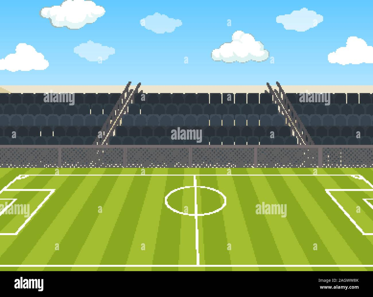 background scene with football field and stadium illustration stock vector image art alamy https www alamy com background scene with football field and stadium illustration image337400131 html