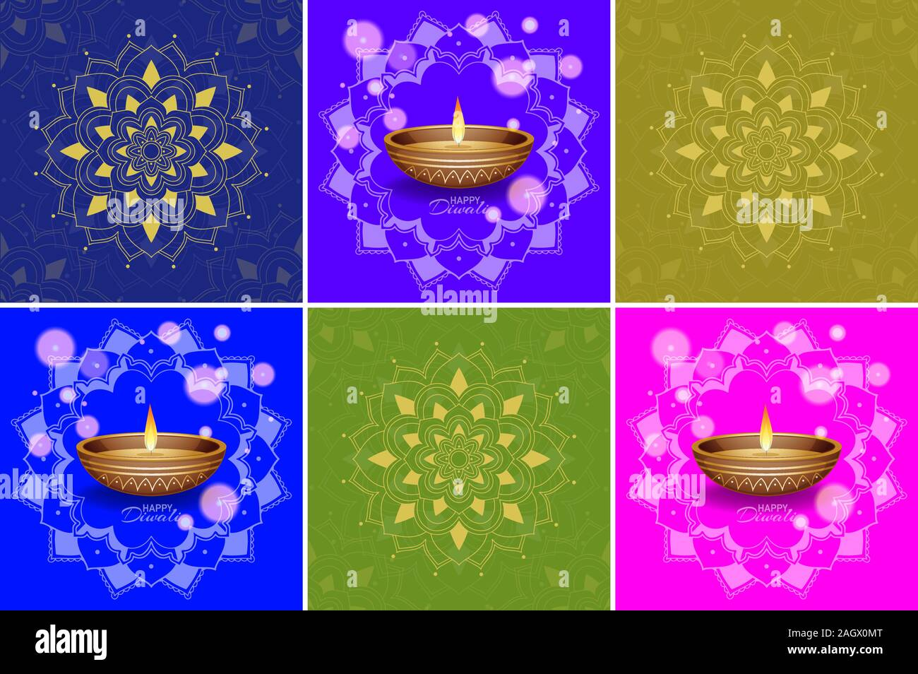 Background Template With Mandala Designs Illustration Stock Vector Image Art Alamy