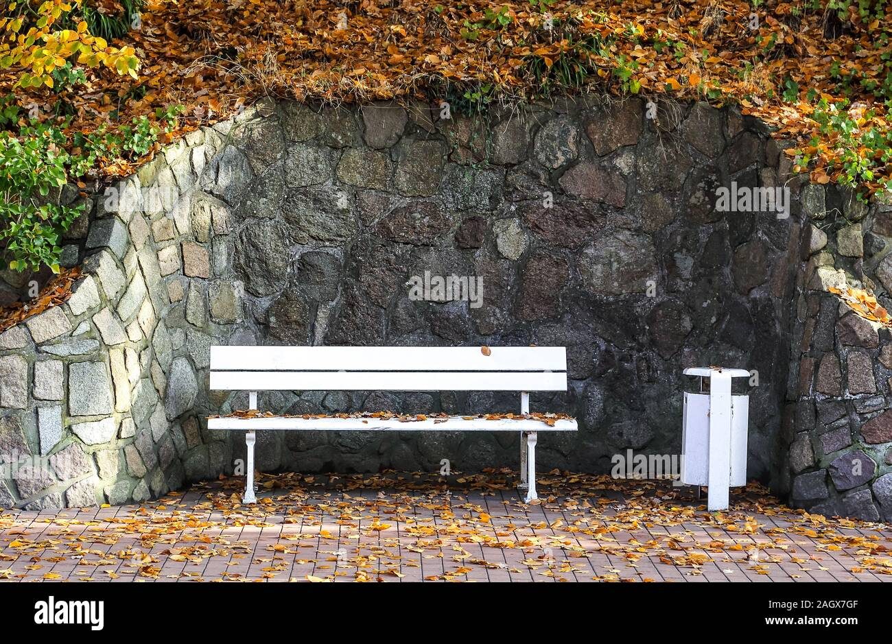 A nice place to rest or just to talk to other people. Stock Photo