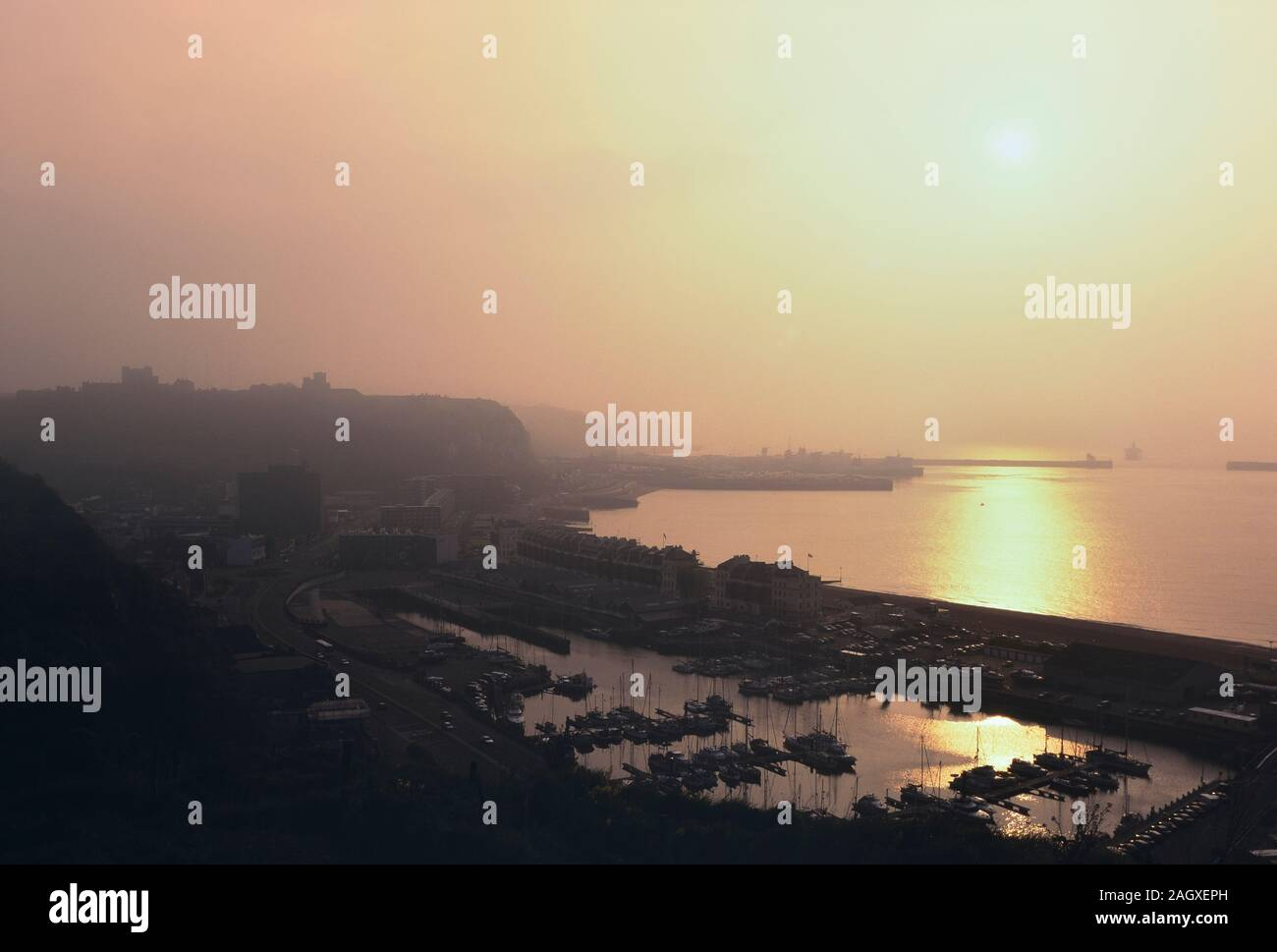 The Port of Dover at dawn. Kent. England. UK. Europe Stock Photo