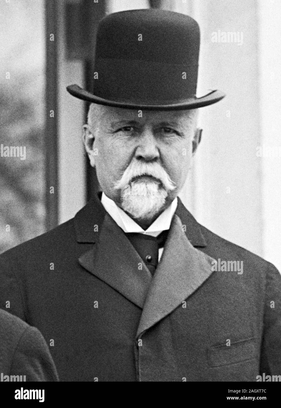 Vintage photo of American banker and politician Theodore P Gilman (1841 – 1930). Photo circa 1914 by Harris & Ewing. Stock Photo