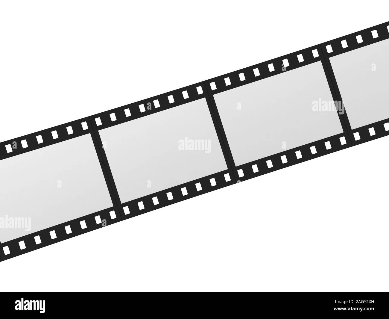 Movei film. 3d illustration isolated on white background Stock Photo