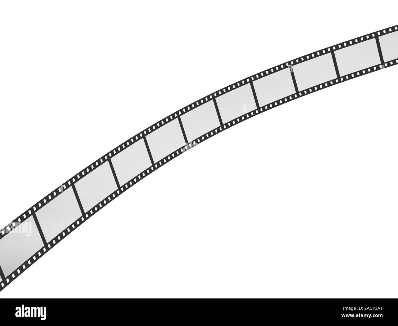Movei film. 3d illustration isolated on white background Stock Photo