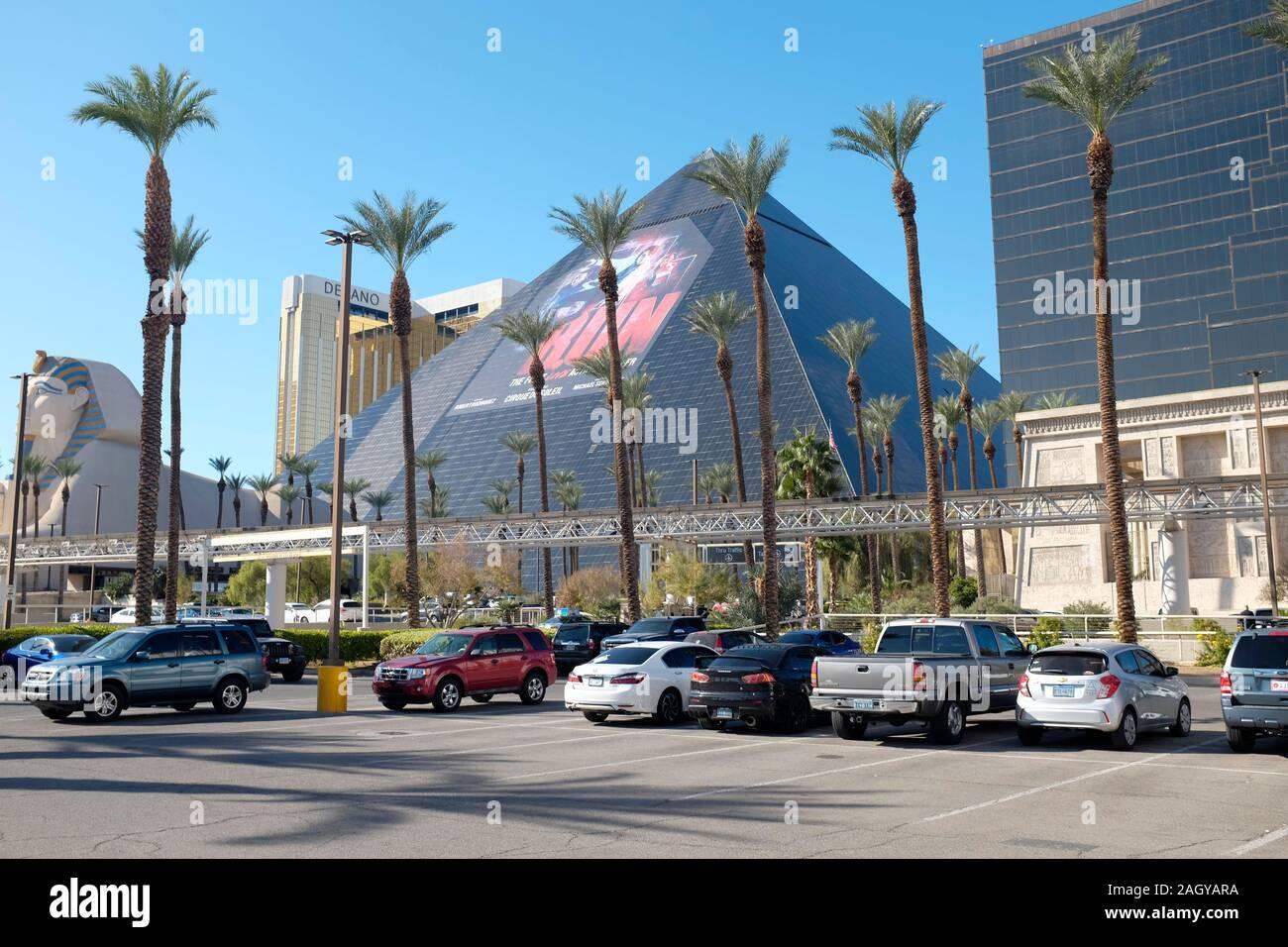 Luxor resort Hotel and Casino, Las Vegas, Nevada, USA. Stock Photo