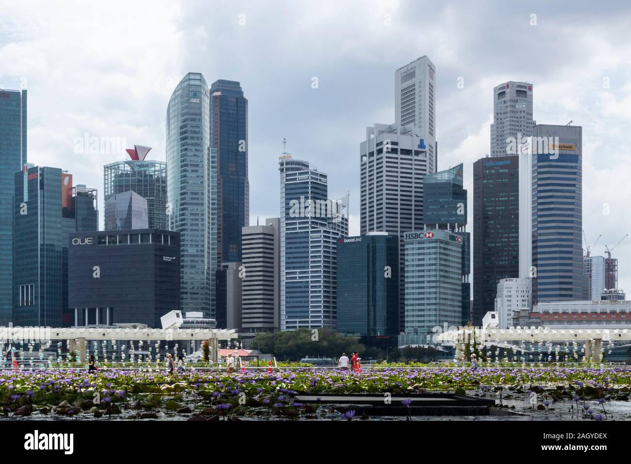 Singapore business skyscrapers Stock Photo