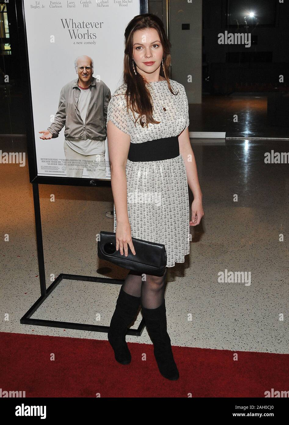 Amber Tamblin Whatever Works Premiere At The Pacific Design Center Theatre In Los Angeles Tamblinamber 38 Red Carpet Event Vertical Usa Film Indus Stock Photo Alamy