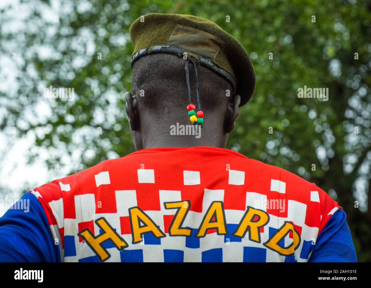 Portrait Of A Former Soldier From Larim Tribe Wearing A Chelsea