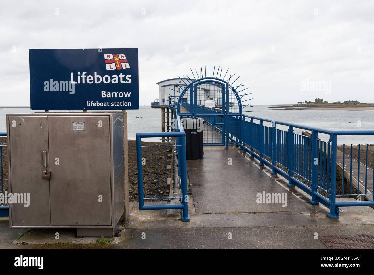 Barrow Lifeboat Station at Barrow in Furness in the South West of the English Lake District Stock Photo