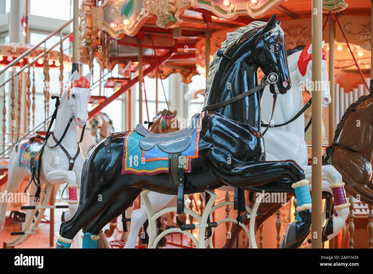 Page 2 Carousel Horse Isolated High Resolution Stock Photography And Images Alamy