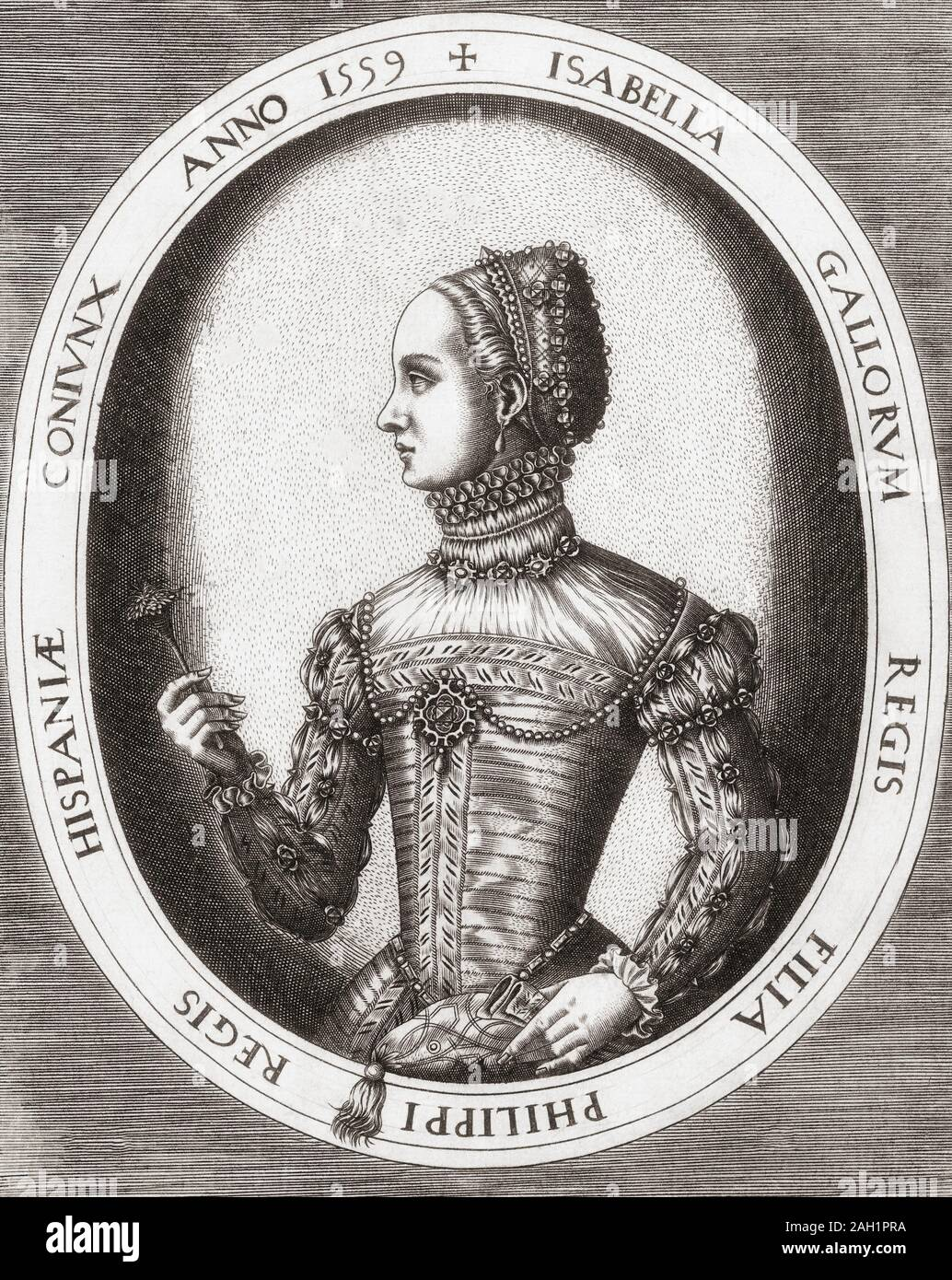 Elisabeth of Valois. 1545 –1568. French born Spanish queen consort as the third of four wives of King Philip II of Spain. Stock Photo