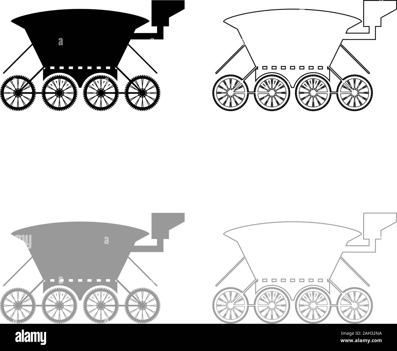 Moon rover Mars explorer Space machine Planets vehicle icon outline set black grey color vector illustration flat style simple image Stock Vector
