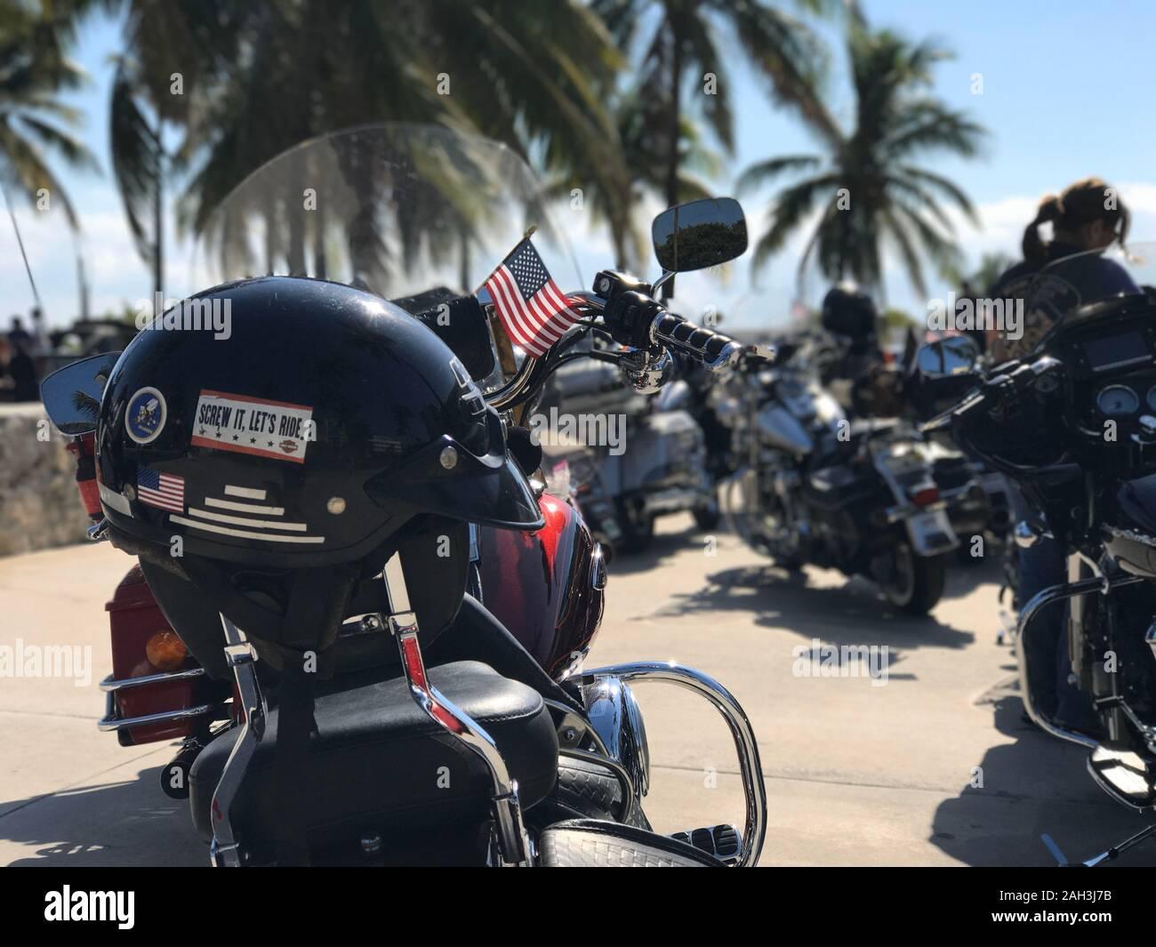"Bumper Sticker  HARLEY DAVIDSON Motorcycle SCREW IT LETS RIDE 3/"" x 11/"" LOT OF 10"